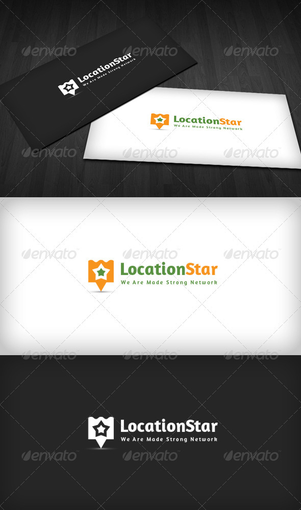 Location Star Logo - Vector Abstract