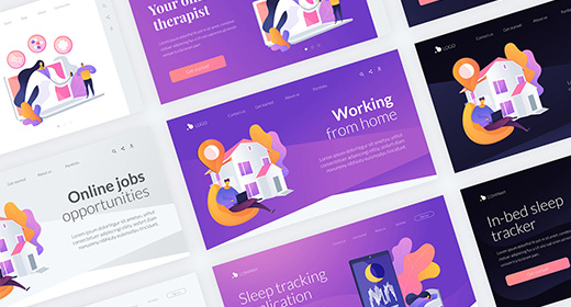 Wavy - vector illustrations and landing pages