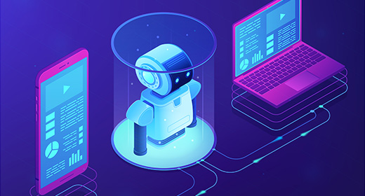 Isometric illustrations and landing pages