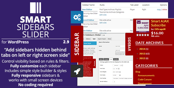 Smart Sidebars Slider - Plugin for WordPress - Preview Image
