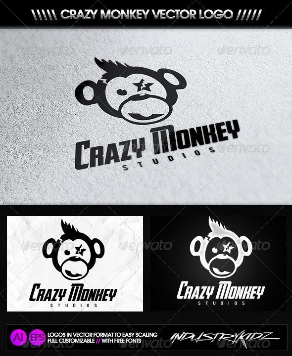 Crazy Monkey Studios Logo By Industrykidz Graphicriver