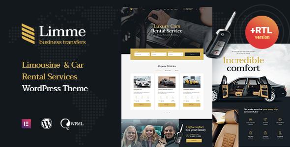 Limme - Limousine Transfers & Car Dealer WordPress Theme + RTL