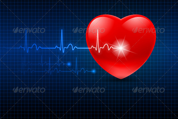 Abstract Heart Monitor - Health/Medicine Conceptual
