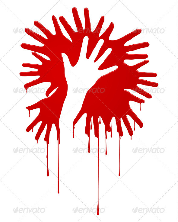 Abstract bloody hands - Decorative Symbols Decorative
