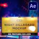 Night Billboard Mockup - VideoHive Item for Sale