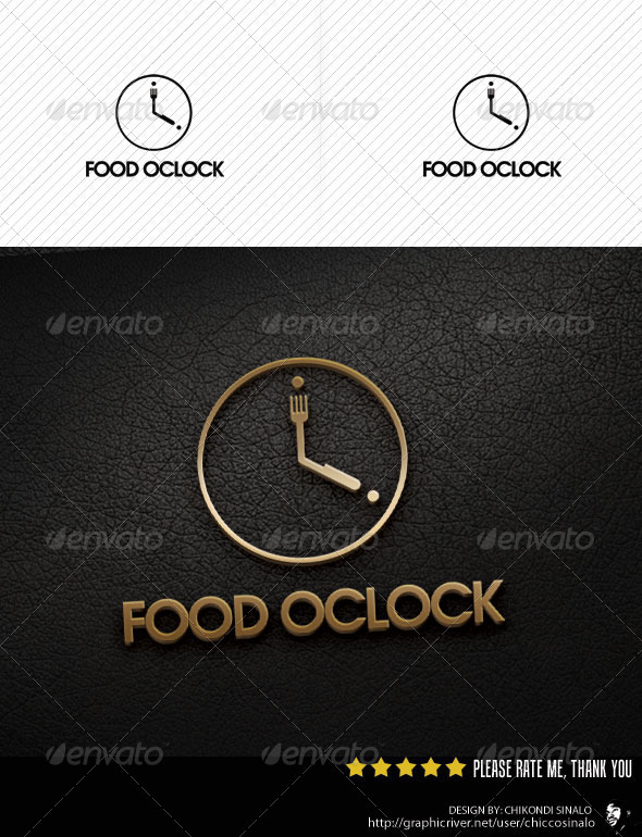 Food Oclock Logo Template
