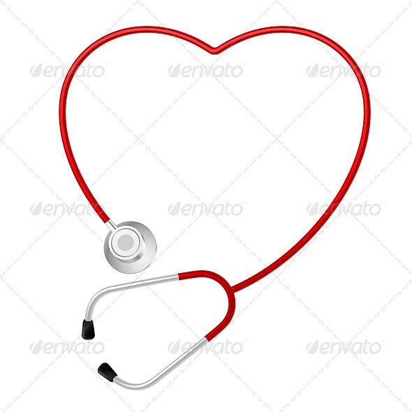 Stethoscope heart symbol - Health/Medicine Conceptual
