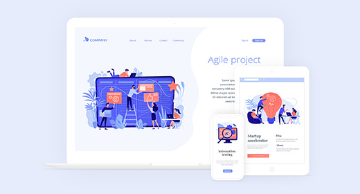 Organic Coral - illustrations and landing pages