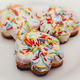 Colorful candy over white frosting on cookies - PhotoDune Item for Sale