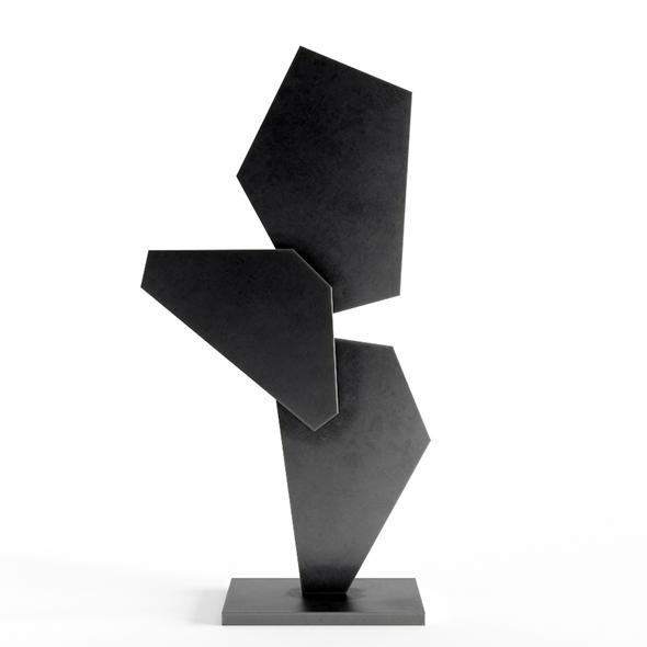 Abstract Metal Art Sculpture 02