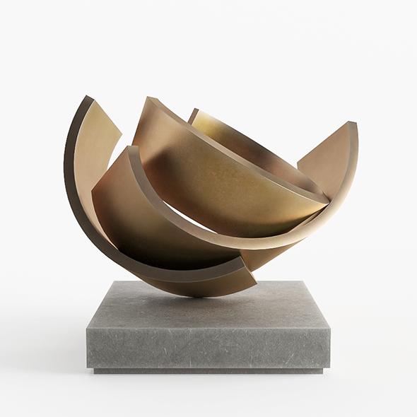 Abstract Copper Art Sculpture 16