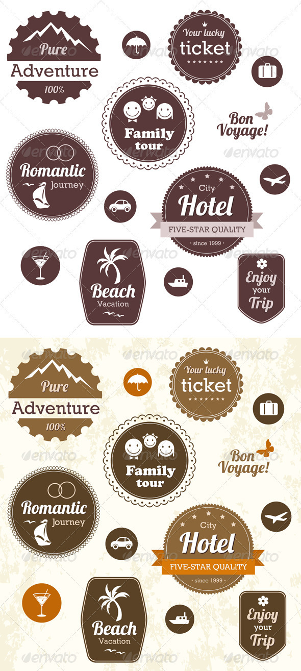 Travel And Vacation Emblems Set - Travel Conceptual