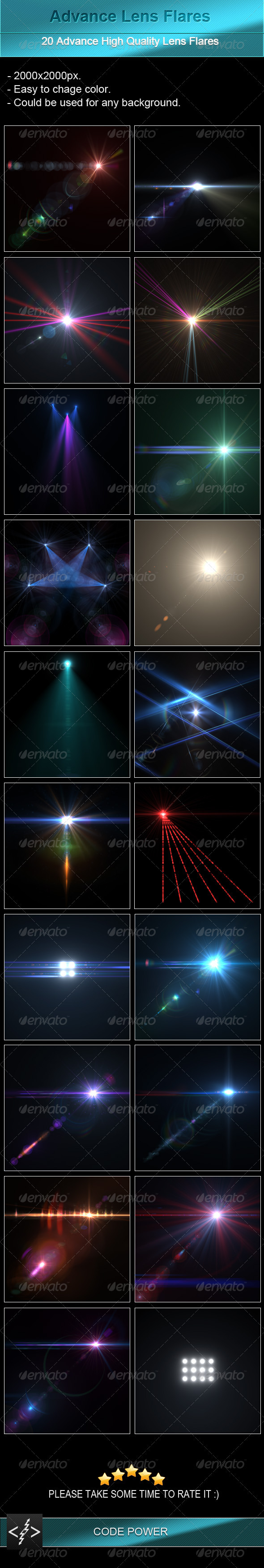 Advance Lens Flares - Decorative Graphics