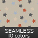 Seamless Star Background Pattern - 10 colors - GraphicRiver Item for Sale