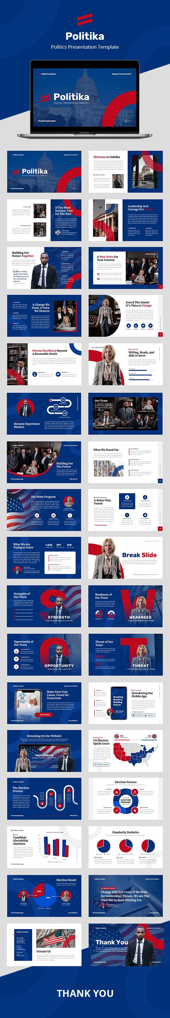 Politika: Politics PowerPoint Template