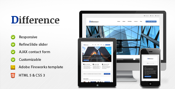 Difference – Responsive Business Template