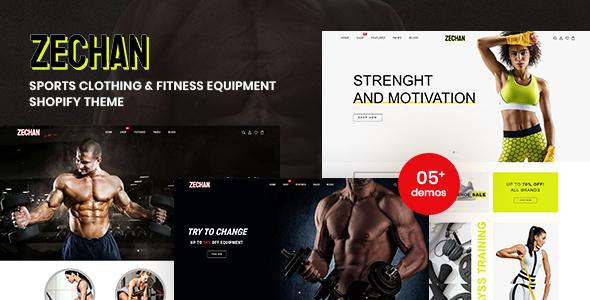 Zechan - Sports Clothing & Fitness Equipment Shopify Theme