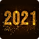 Year 2021 Golden Text Reveal with Fireworks - VideoHive Item for Sale