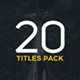 Minimal Titles | DaVinci Resolve - VideoHive Item for Sale