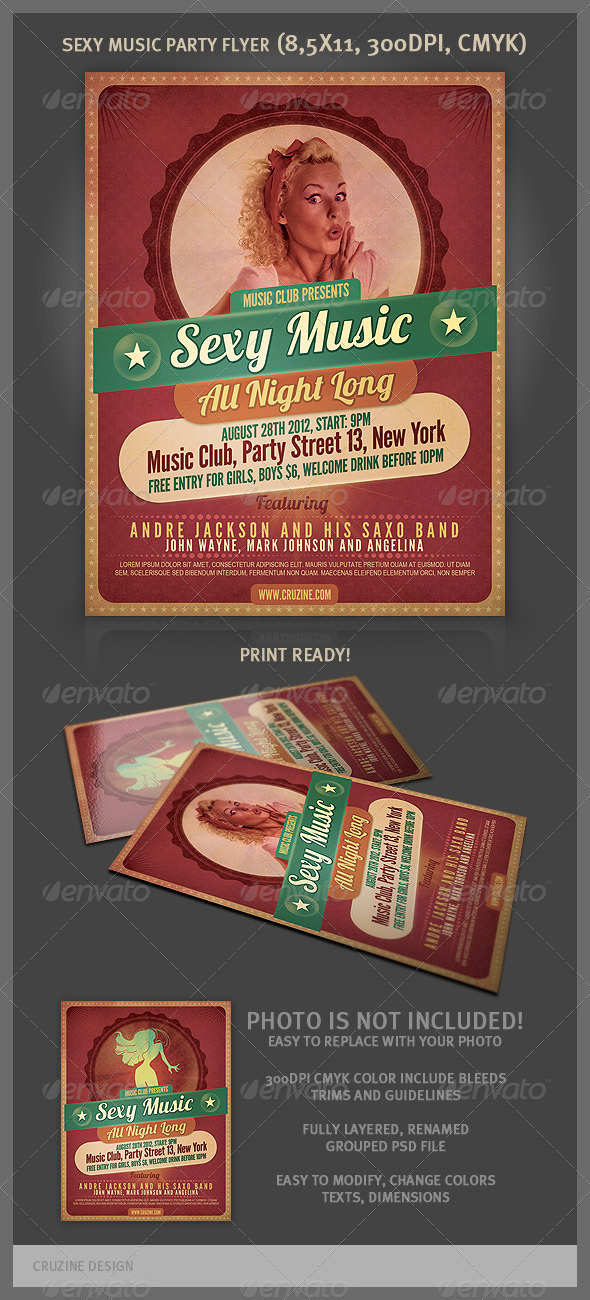 Sexy Music Party Flyer - Clubs & Parties Events