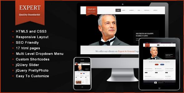 Expert – Responsive HTML Template