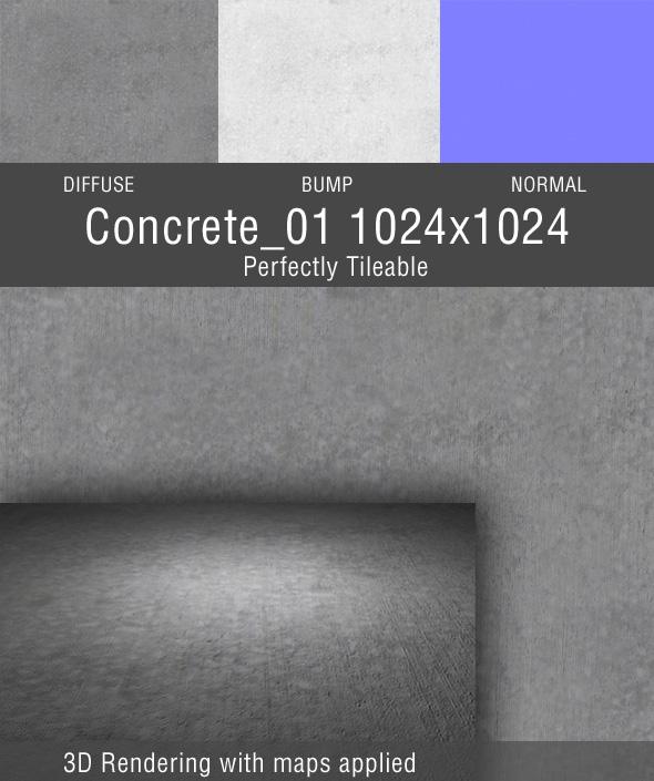 Concrete_01 - 3DOcean Item for Sale