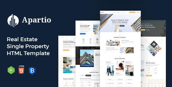 Super Apartio : Real Estate Single Property HTML Template