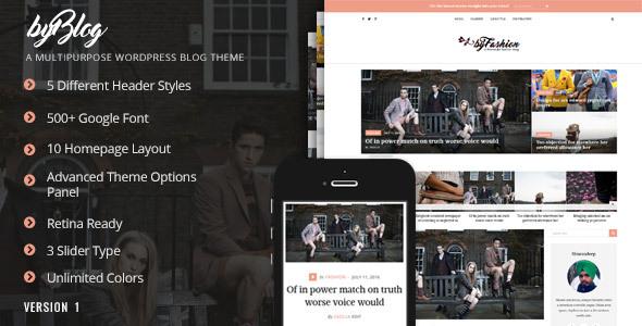 Wondrous Byblog - Responsive WordPress Blog Theme
