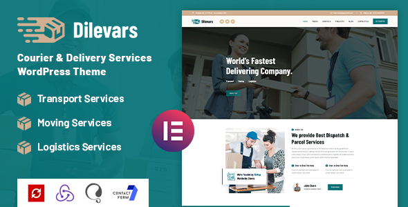 Download Dilevars – Courier and Delivery Services WordPress Theme Free Nulled