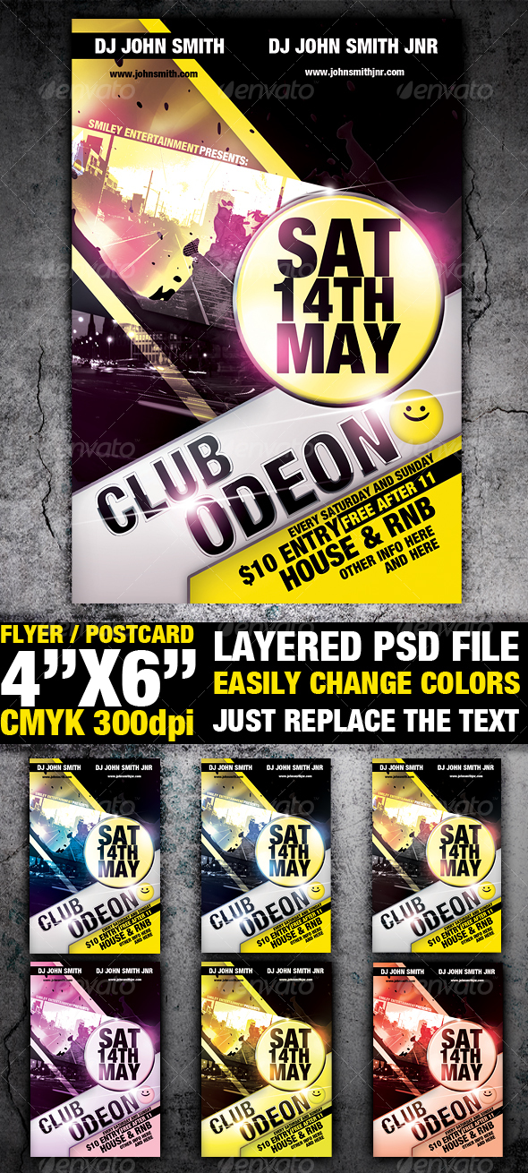 Club Flyer Template - Clubs & Parties Events