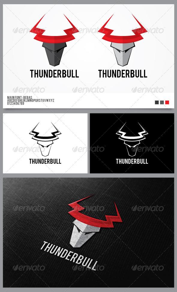 Thunder Bull Logo Template  - Animals Logo Templates