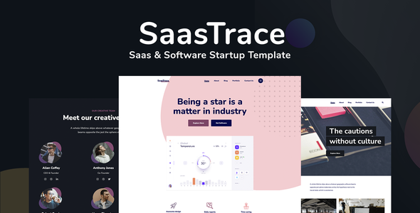 SaasTrace - Saas & Software Startup Template