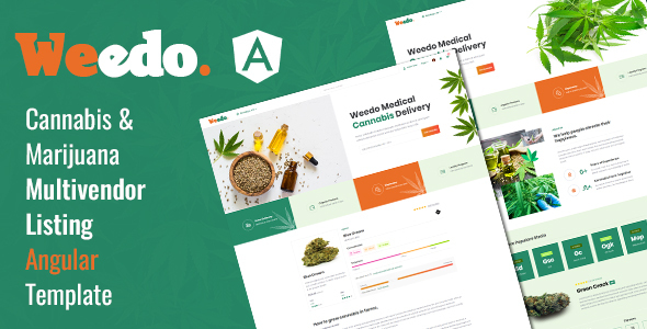 Extraordinary Weedo | Multivendor Marijuana Angular Template