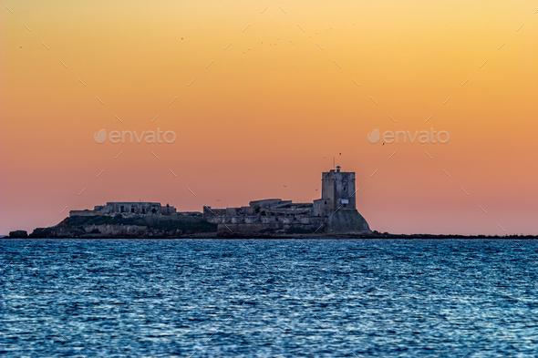 Castle of Sancti Petri, San Fernando, Cadiz, Spain - Stock Photo - Images