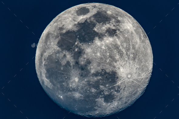 The moon, March 19, 2019 - Stock Photo - Images