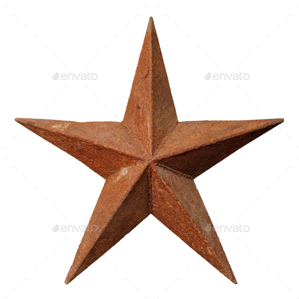 Old rusted five-pointed metal star - Stock Photo - Images