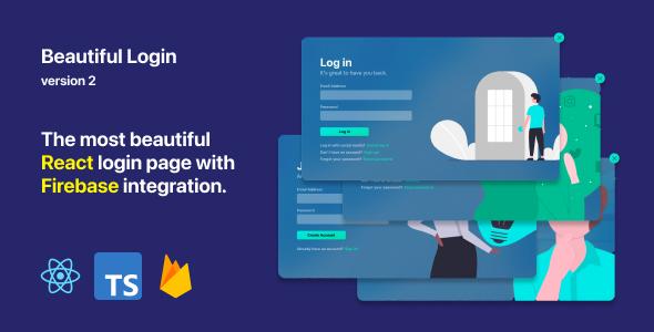 Beautiful Login 2 - Your ReactJS and Firebase login starter pack