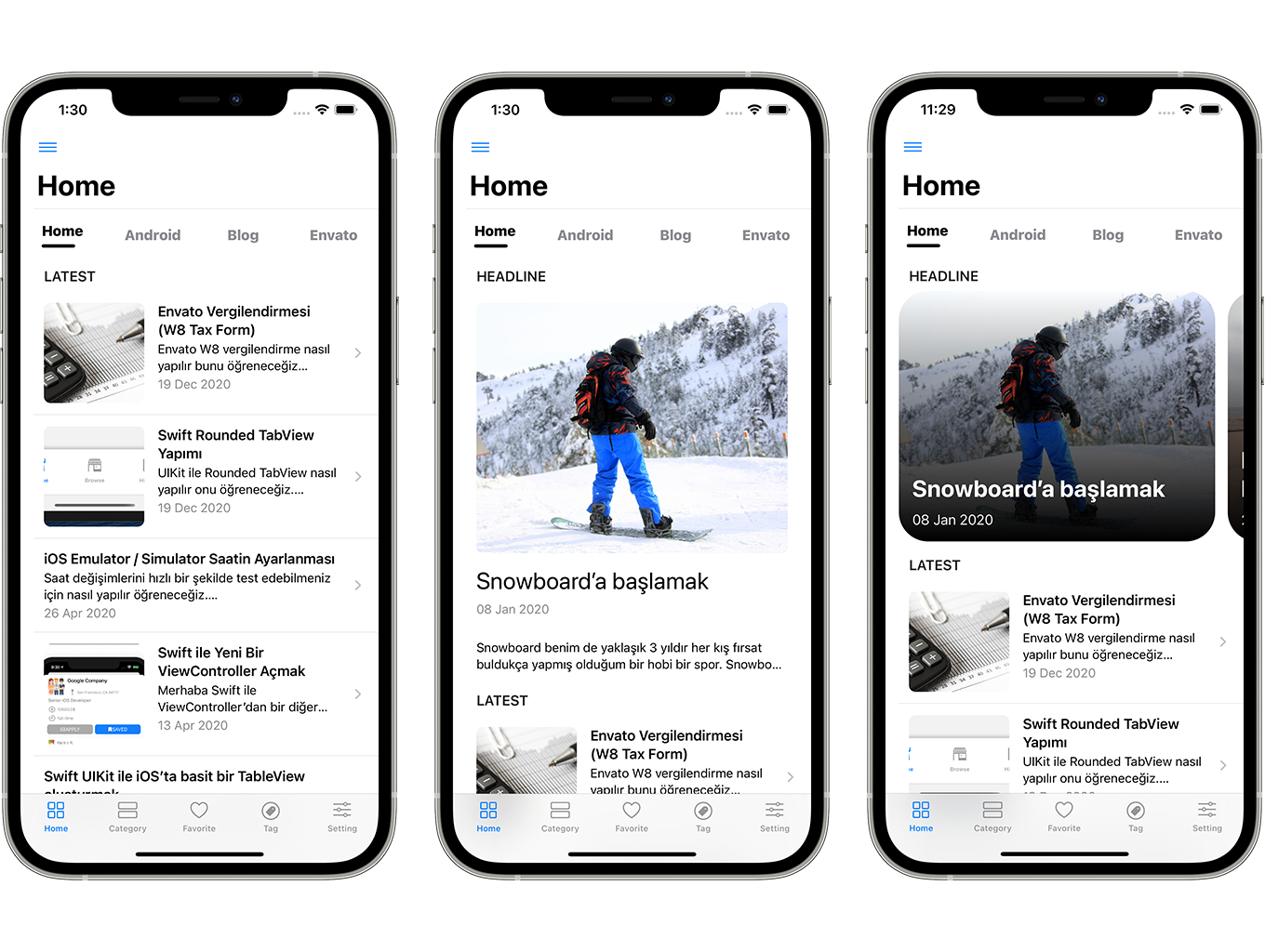 Blog and News SwiftUI iOS App for WordPress Site with AdMob, Firebase Push Notification and Widget - 3