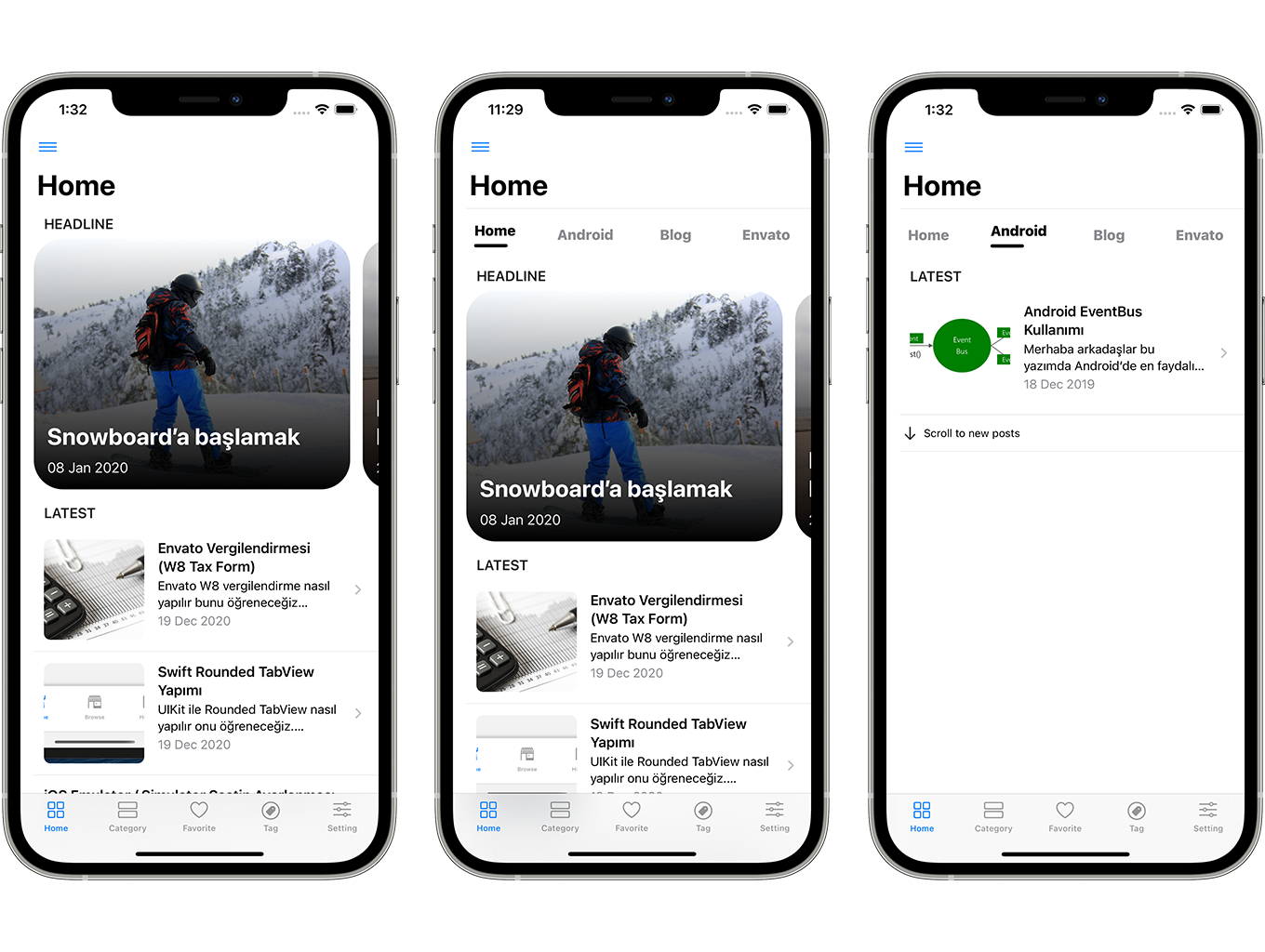 Blog and News SwiftUI iOS App for WordPress Site with AdMob, Firebase Push Notification and Widget - 4