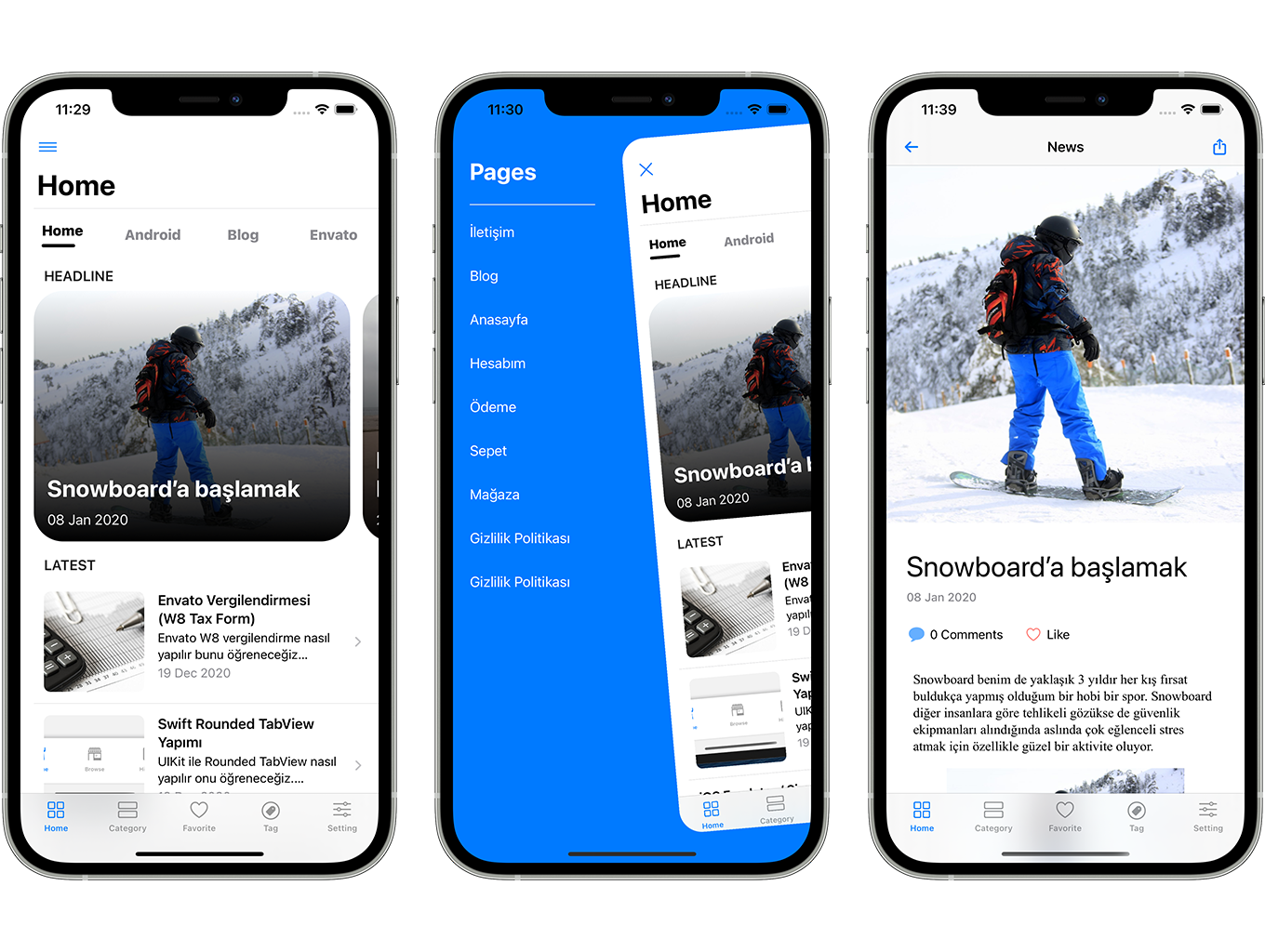 Blog and News SwiftUI iOS App for WordPress Site with AdMob, Firebase Push Notification and Widget - 5