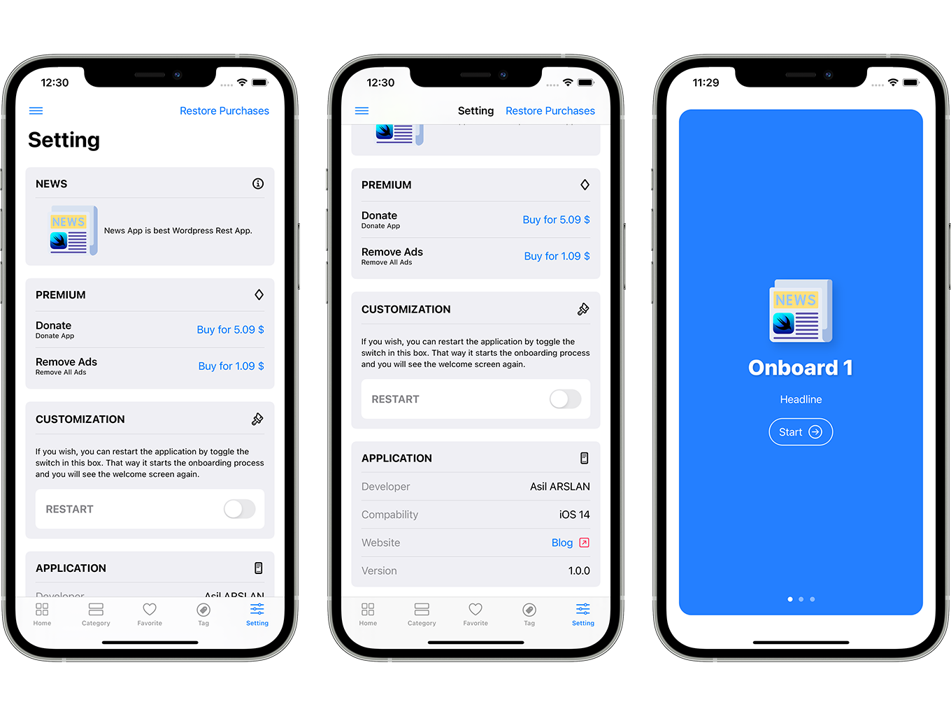 Blog and News SwiftUI iOS App for WordPress Site with AdMob, Firebase Push Notification and Widget - 7