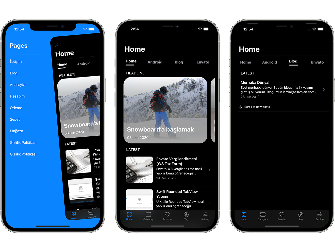 Blog and News SwiftUI iOS App for WordPress Site with AdMob, Firebase Push Notification and Widget - 6