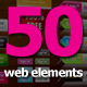 50 Web Elements Collection - Vector PSD - GraphicRiver Item for Sale