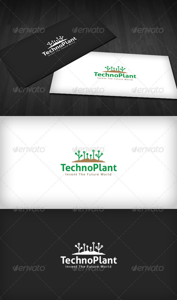 Techno Plant Logo - Nature Logo Templates