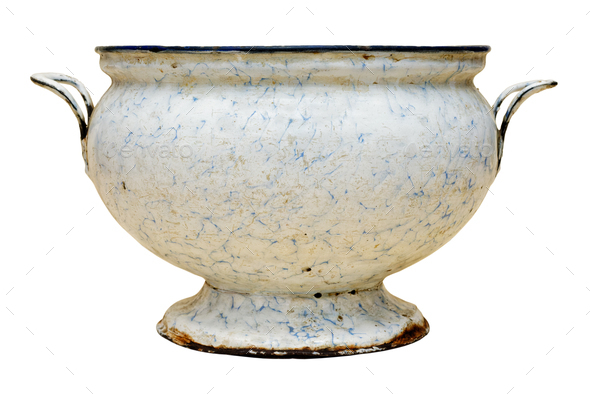 Old empty soup bowl - Stock Photo - Images