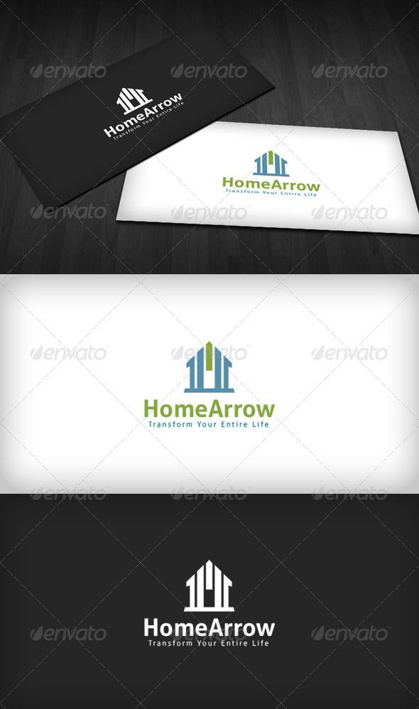 Home Arrow Logo - Buildings Logo Templates