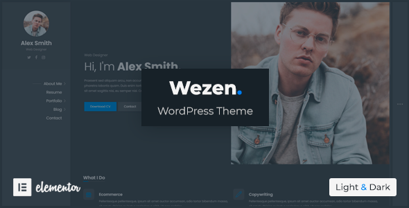 Wezen - CV Resume Theme
