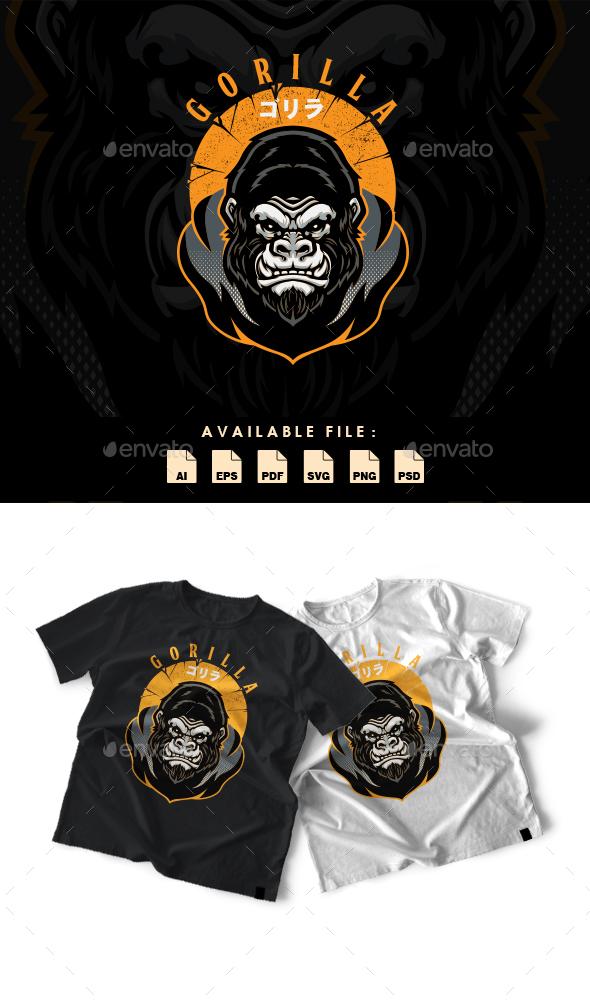 Gorilla T-shirt Design