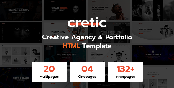 Cretic - Creative Agency Portfolio HTML Template