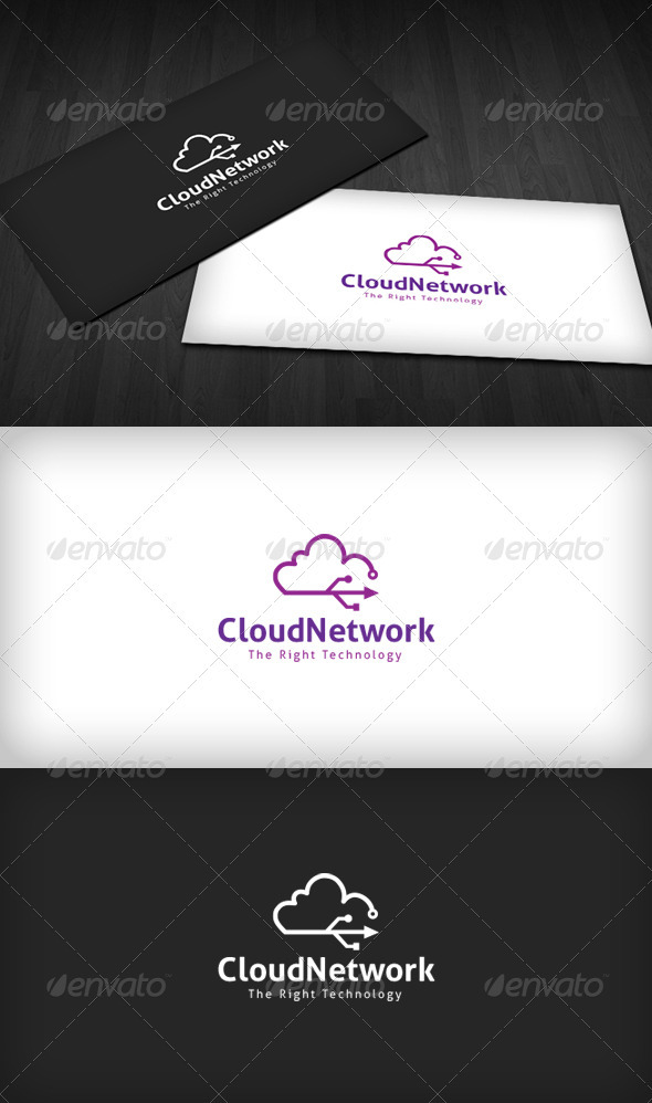 Cloud Network Logo - Symbols Logo Templates